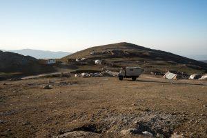 Übernachtung beim Nomadenlager
