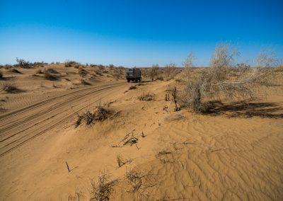 Unimog in Karakum Desert