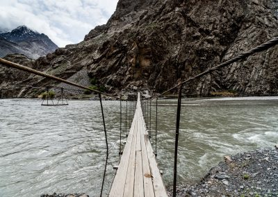 Pamir - Bartang Plank Bridge