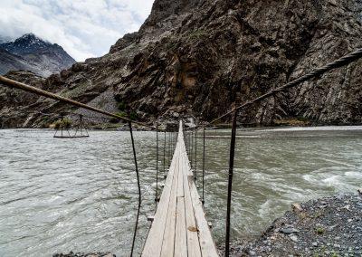 Pamir - Bartang Plank Bridge