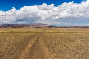 Gobi Landscape With Ger