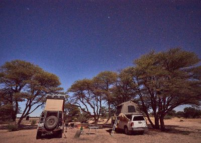 Camping at Setsatsewe Pan