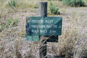 20190425 Sign Post In Moremi Botswana DSC0566